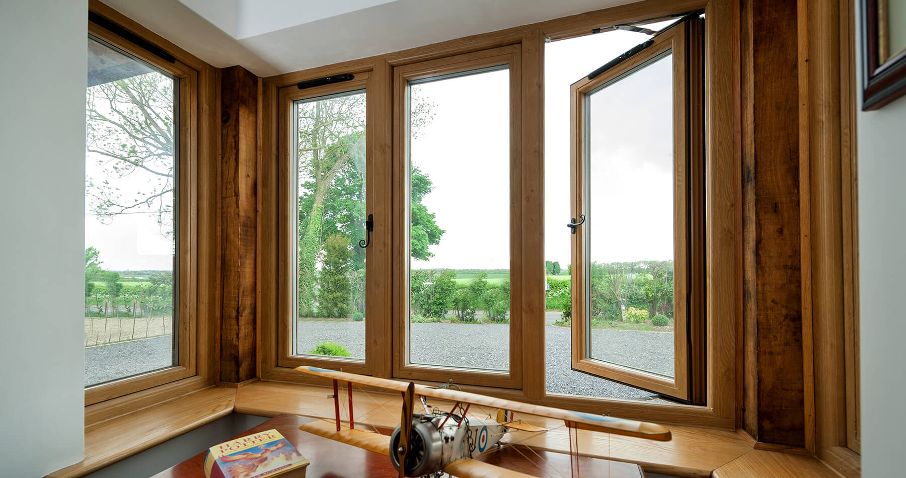 Flush sash Residence Collection window interior view