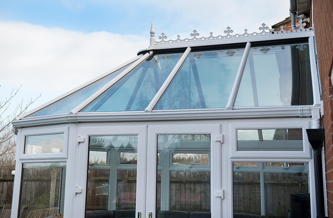 Glass Victorian conservatory roof